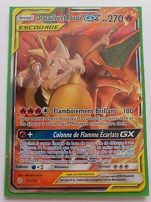 Carte Pokemon Dracaufeu Et Roussil Gx 22236 Eclipse