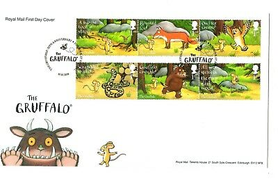 2019 THE GRUFFALO Stamps GB FIRST DAY COVER MOUSEHOLE FDC *NICE* 10.10.19