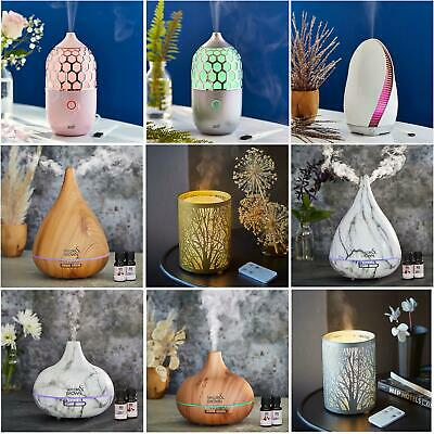 Aroma Essential Oil Diffuser Led Ultrasonic Aromatherapy Air Humidifier Purifier