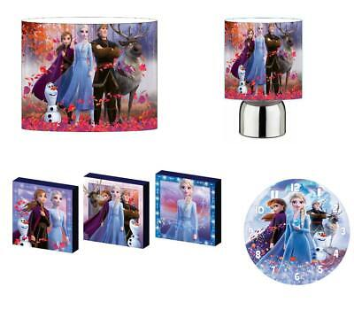 Frozen 2 (007) Bedroom Bundle - Canvas,Touch Lamp, Lampshade, Clock Free Post
