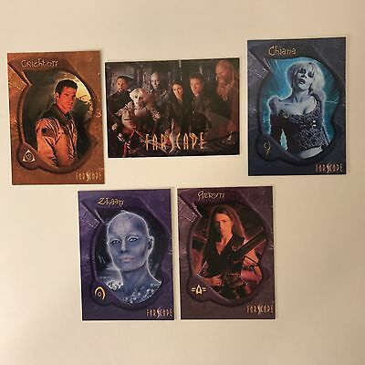 FARSCAPE SET OF 5 UK EXCLUSIVE DEALER PROMO CARDS PREVIEW