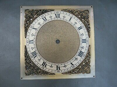 Vintage ornate brass clock face dial - spares parts