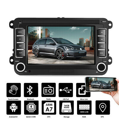 "7"" Autoradio Android 8.1 BT GPS Navi 2 DIN Für VW GOLF 5 Passat Touran Polo EOS"