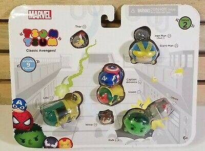 Marvel Tsum Tsum 9-Pack Mini-Figures - Classic Avengers Series 2