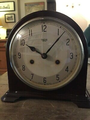 Smiths Enfield vintage bakelite mantel clock. Made in England. Working order.