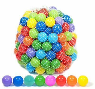 Plastic Balls for Children For Ball Pits Kids Multi Coloured Toys Play Pool