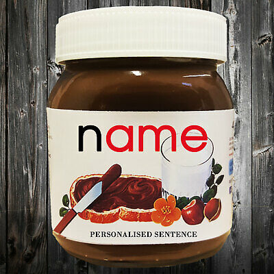 Personalised Nutella Label Christmas Anniversary Birthday Gifts Presents Her Him
