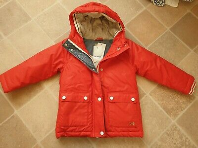 Girls Next Winter Coat Red with Wadding & Shower Resistant 5 Years BNWT RRP £36