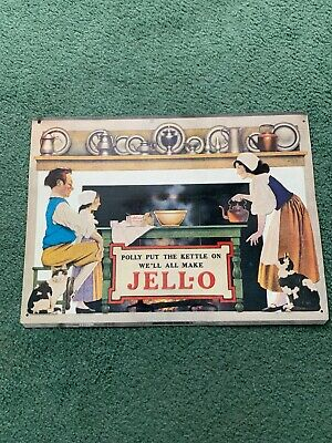 Vintage JELLO metal sign Reproduction Advertising