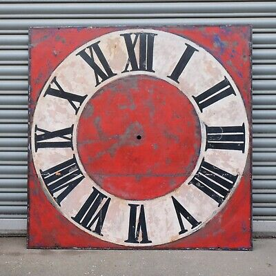 Large Antique Square Clock Dial from the Outside of a Building