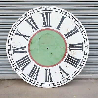 Large Decorative Antique Wall / Turret Clock Dial