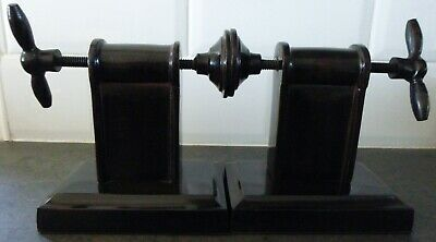 Pair of Industrial Style Bookends Wing Nut Screw Thread Style Clamps