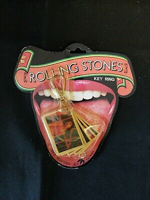 1983 Rolling Stones Key Ring Never Used in Original Package Mick Jagger NOS!