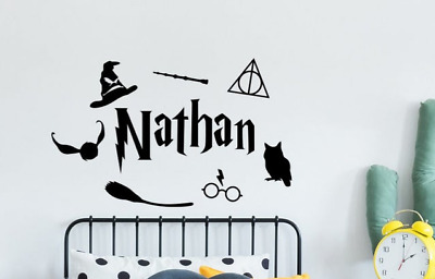 HARRY POTTER wall sticker Little Wizard Personalised  name girls boys wall art