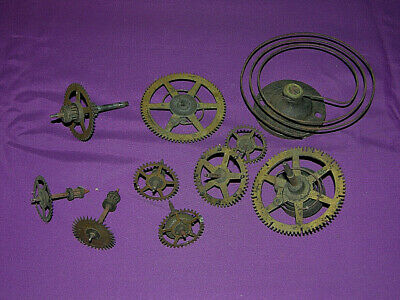 Antique Clock Gears & Parts - Great For Steampunk Art - Brass Clock Gears