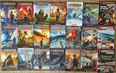 New I Survived 22 Book Series Set Lot Molasses D-Day Lauren Tarshis True Stories