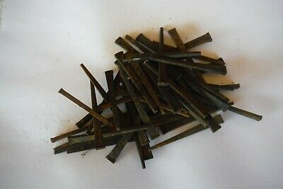 "Lot Of 50 Vintage Square Cut  ~ 2.5"" Inch Iron Straight Nails (Surface rust)"