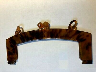 Craft Vintage Large Lucite Faux Tortoise Purse Frame