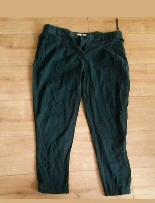 river island green chinos woman girl trousers size 14 R