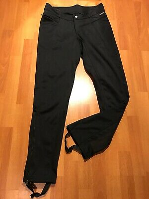 Kerrits Equestrian Breeches Size L Large Horse Riding Black Ankle Zips And Staps