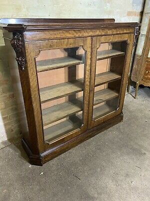 Antique Victorian Mahogany Library Bookcase Display Cabinet .Delivery Available
