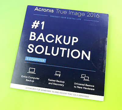 Acronis True Image 2016 #1 Backup Solution Software for 1 Computer 1 Device