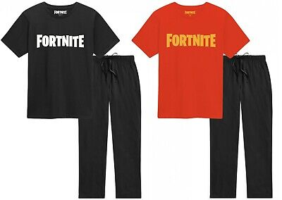 Official Boys Fortnite Pyjamas Kids Outfit T-Shirt Bottoms Ages 8-14 Christmas