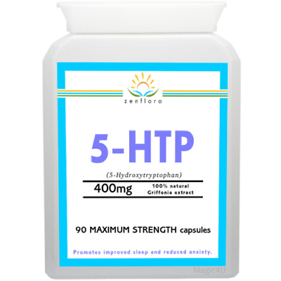 90 CAPSULES 5-HTP 400mg MAXIMUM STRENGTH(for Depression, Insomnia, Anxiety,Mood)