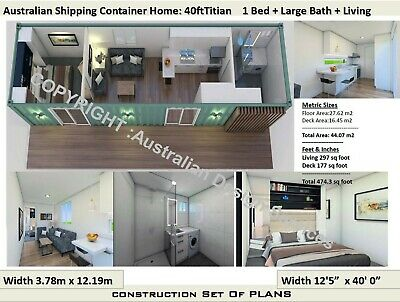 Shipping Container House Floor Plans 40 Foot Construction Plans