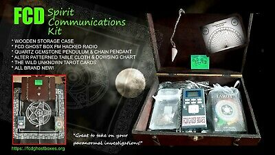 FCD Spirit Communications Kit Ghost Box Bundle Tarot Dowsing Alter cloth Gift