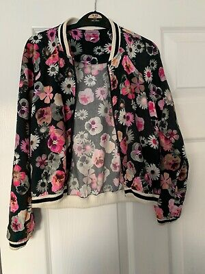 Marks And Spencers, M&S, Girls Floral Jacket Age 8-9