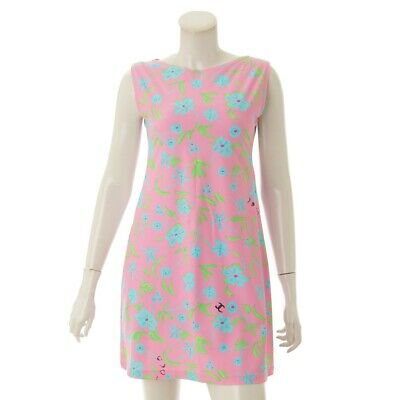 Authentic CHANEL COCO Mark 97P Floral Sleeveless Dress P07806 #F40 Rank AB