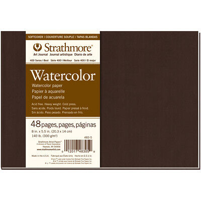 """Strathmore Softcover Watercolor Journal 8""""X5.5""""-24 Sheets"""