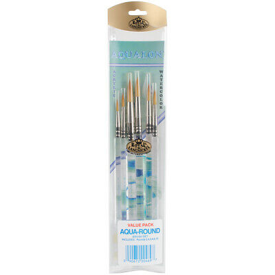 Royal Aqualon Brush Set-Round 6/Pkg