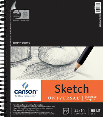 """Canson Universal Spiral Sketch Book 11""""X14""""-100 Sheets"""