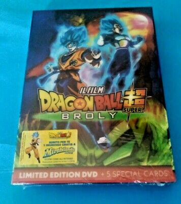 Dragon Ball Super Broly IL FILM limited edition DVD + special cards