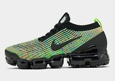 Nike Air Vapormax Flyknit 3 Running Men's Black - Volt - Blue Lagoon - Racer Blu