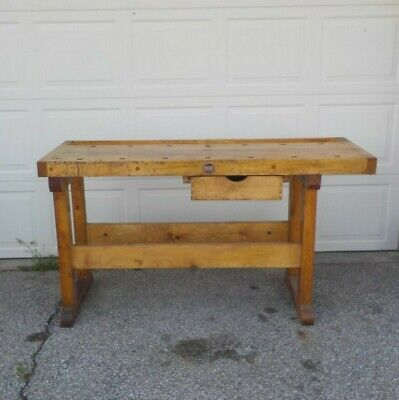 Awesome Vintage Antique Wood Table Legs Workbench Kitchen Island Caraccident5 Cool Chair Designs And Ideas Caraccident5Info