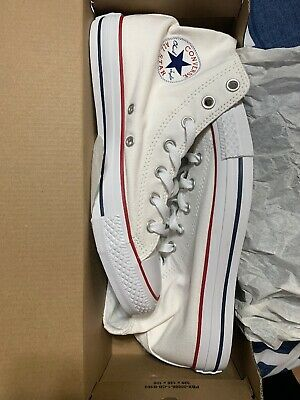 Converse Chuck Taylor All Star White High Top Unisex Sneakers Size US M6/W8-NIB