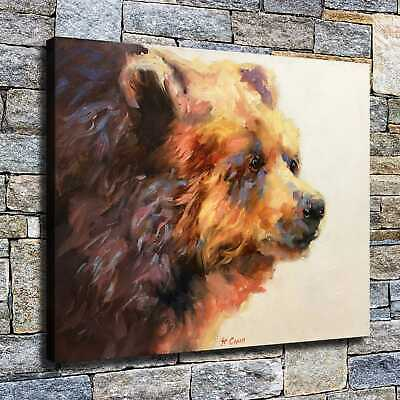 "12""x16""bear High Definition Canvas Print Home Decoration Studio Wall Poster"