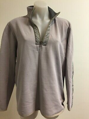 Hugo Boss Mens' Jumper Quarter Zip Size L Light Grey