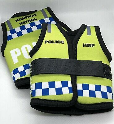 Police HWP Stubby Holder, Hi Vis Vest, Highway Patrol, 1 x Bottle holder