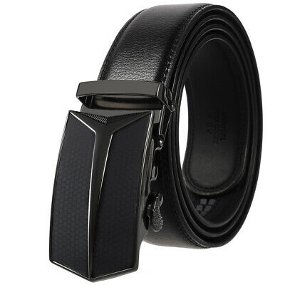 Genuine Leather Belt For Men Ratchet Belt Autonomic Belt Buckle