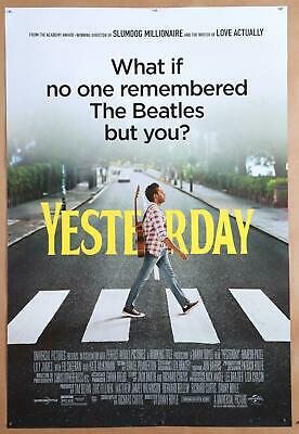 Yesterday original 2019 movie poster 27x40 Double Sided The Beatles