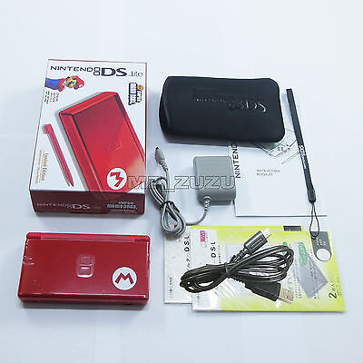 New Super Mario M Red Nintendo DS Lite HandHeld Console System DSL DSi GBA games