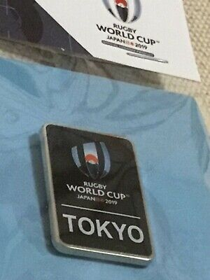 RWC 2019 Rugby Union World Cup Japan Host City Tokyo Unopened Official Pin Badge