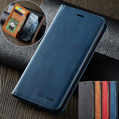 For iPhone 11 Pro Max Case Magnetic Flip Luxury Retro Leather Wallet Stand Cover
