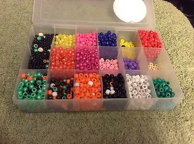 Beads,Craft Organizer For Beads,17 Squares Of Assorted Different Color Beads