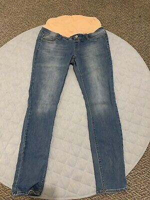 Jeanswest Maternity Jean Size 12 Skinny With Belly Band EUC