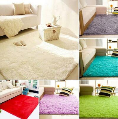 Fluffy Rug Anti-Skid Shaggy Super Soft Carpet Mat Dining Room Floor Home Bedroom